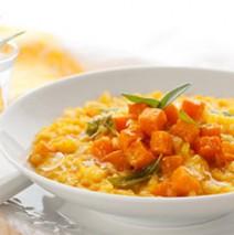 Kürbisrisotto mit Parmesan und Koriander
