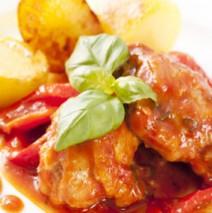 Il Pollo ai Peperoni – Huhn an Paprikaschoten