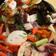 Salat mit Meeresfrüchten – Insalata ai frutti di mare
