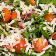 Insalata di pomodori con la rucola – Tomaten-Rucola-Salat